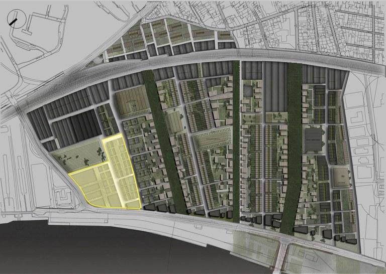 Bordeaux Brazza Soferti plan masse délimitation du Macro-lot Soferti Garonne