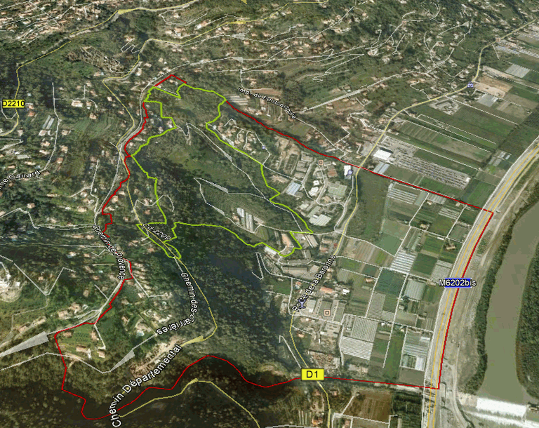 Nice EPA Plaine du Var EcoVallée Saint-Jeannet périmètres étude extension