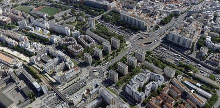 Vue aérienne ZAC Porte de Vincennes