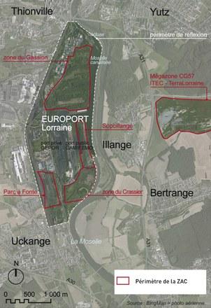 Thionville : un port européen trimodal sur les friches sidérurgiques