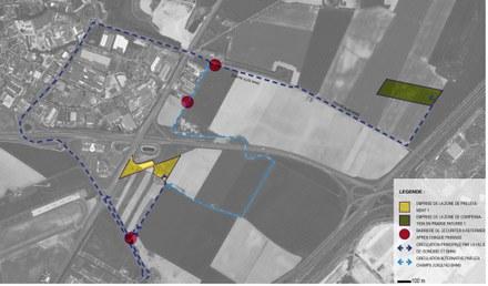 ZAC du Triangle de Gonesse zones de compensation écologique phase 1