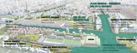 Paris lance la transformation de la Porte de la Chapelle