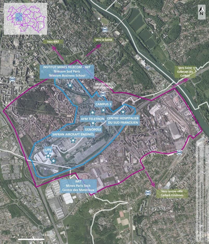 Valoriser l'entrée Sud de l'agglomération Evry-Courcouronnes/Corbeil-Essonnes
